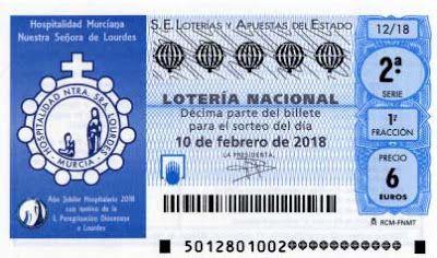 decimos loteria sabado 10 febrero 2018