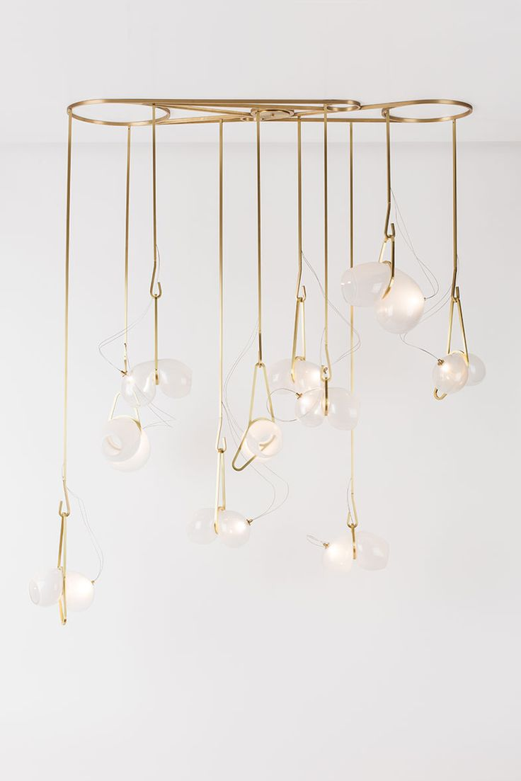 best lighten up images on pinterest  modern lighting  - gold hanging totem luxury lighting