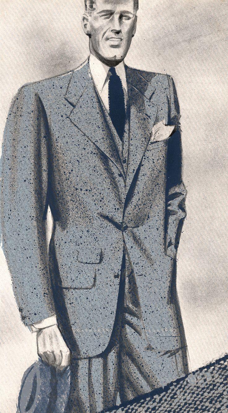 Costume trois pièces pour homme, Lanvin 1940 © Patrimoine Lanvin. #Lanvin125