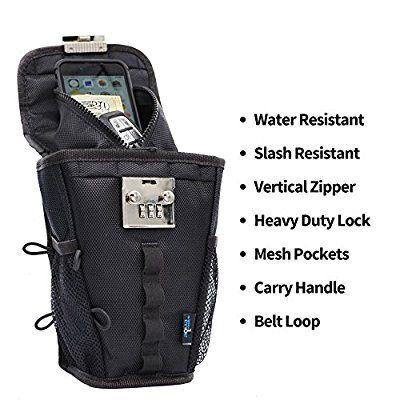 FlexSafe by AquaVault- Anti-Theft Portable Safe, Packable Travel Vault, Outdoor LockBox. As Seen On Shark Tank