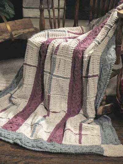 Cabled Gansey Afghan by Dawn Brocco free knitting pattern on Free Patterns at http://www.freepatterns.com/detail.html?code=FK00001_id=362