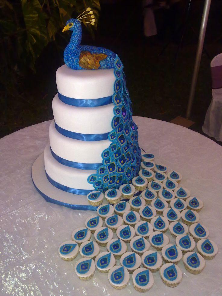 Peacock Amp Cupcakes Suzie S Celebration Cakes Pinterest