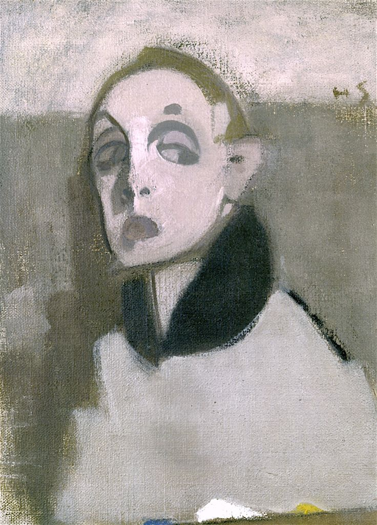 The Athenaeum - Self-Portrait with Palette I (Helene Schjerfbeck - )