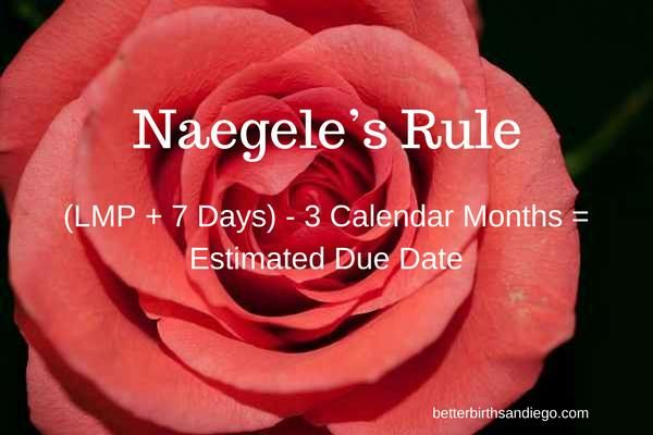 Are you pregnant? Naegele's Rule shows how to calculate your estimated due date.