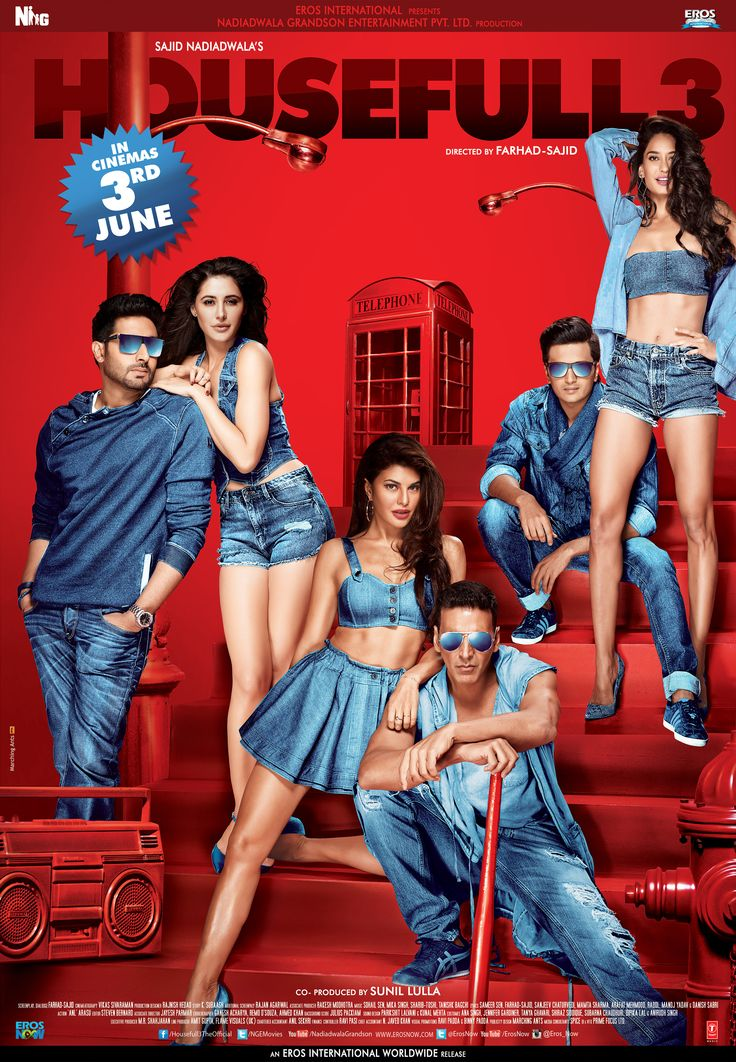 Here's the Official Poster of this year's biggest laughing riot Housefull 3! #Housefull3Poster :)