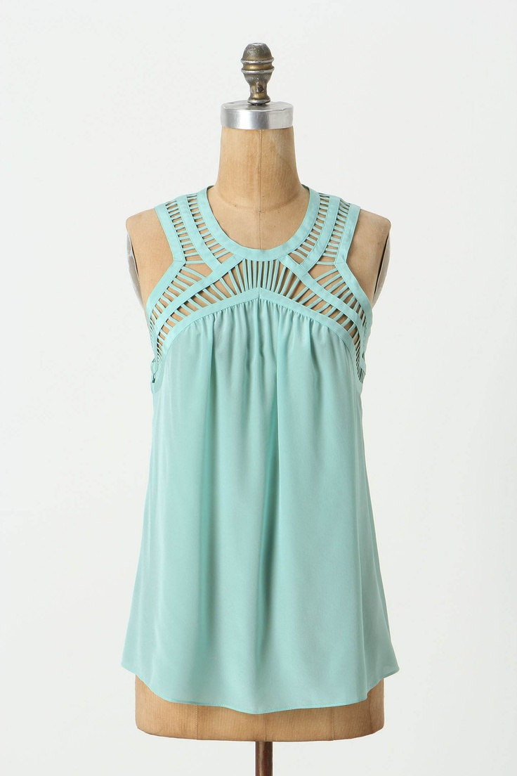 anthropologie: Cute Tops, Templates, Color, Than, White Pants, Tanks Tops, Cute Tanks, Cut Outs, Summer Tops