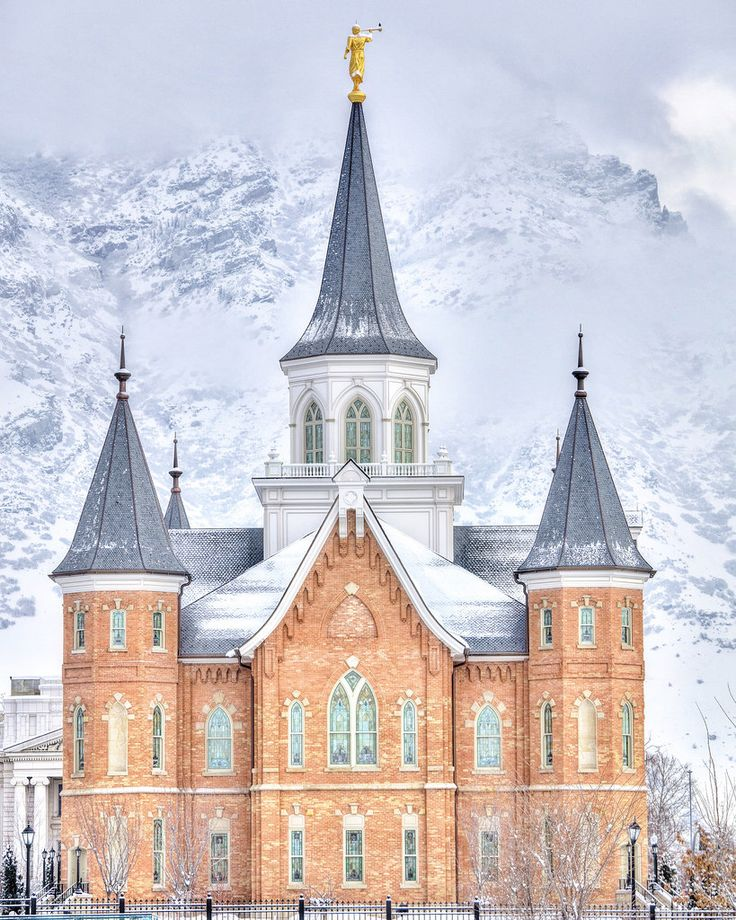 Provo City Center LDS Mormon Temple taken by Kyle Woodbury in winter.