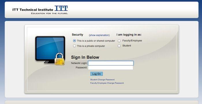 itt tech student login