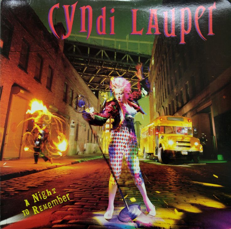 Cyndi Lauper A Night to Remember (1989); cover photo
