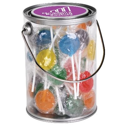 Assorted Colour Lollipops in 1 Litre Drum (LL1094_LL)