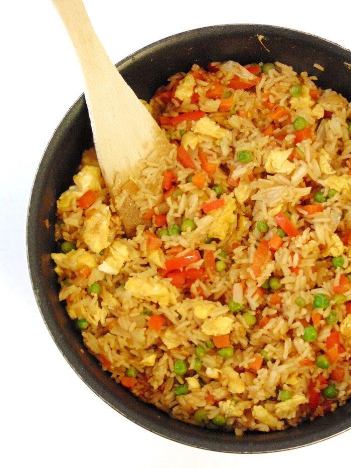 Arroz chino con verduras y huevo | Receta simplificada