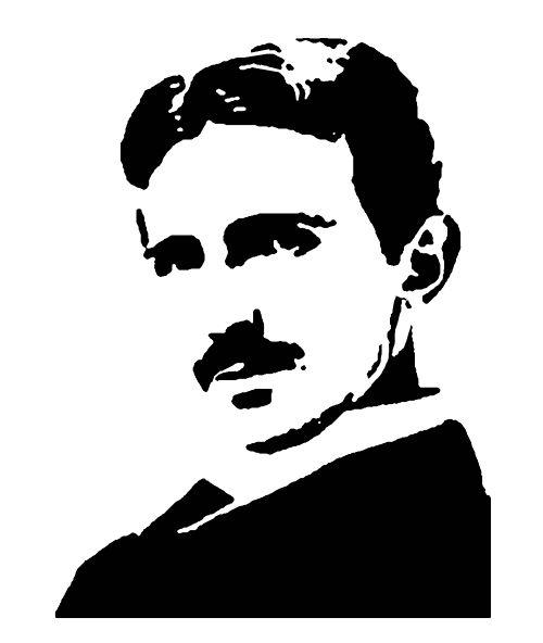 Nikola Tesla Tesla Stencil