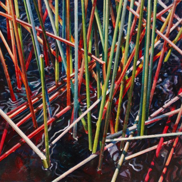 'Ebb' - 60cm x 60cm - oil and acrylic on canvas - Archive (Selected Works) | Susan Schmidt Art
