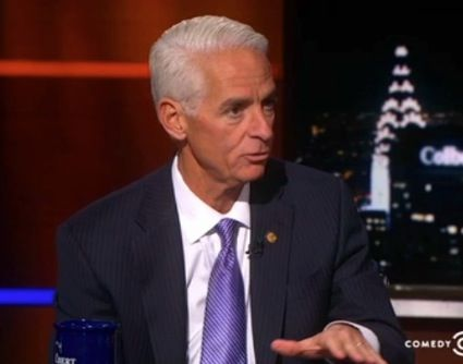 Charlie #Crist: I think #Republicans got mad at me for hugging #Obama because he's black