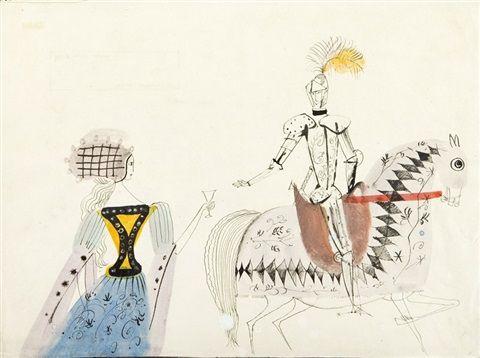 Iv i Finetta, ilustracja do książki by Józef Wilkon