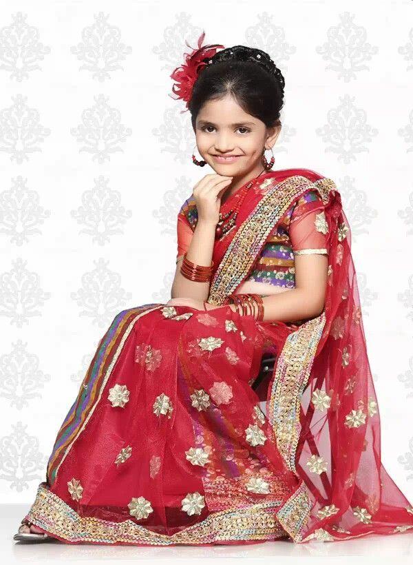 Cute Girls In Half Saree   Indian Girls Photos