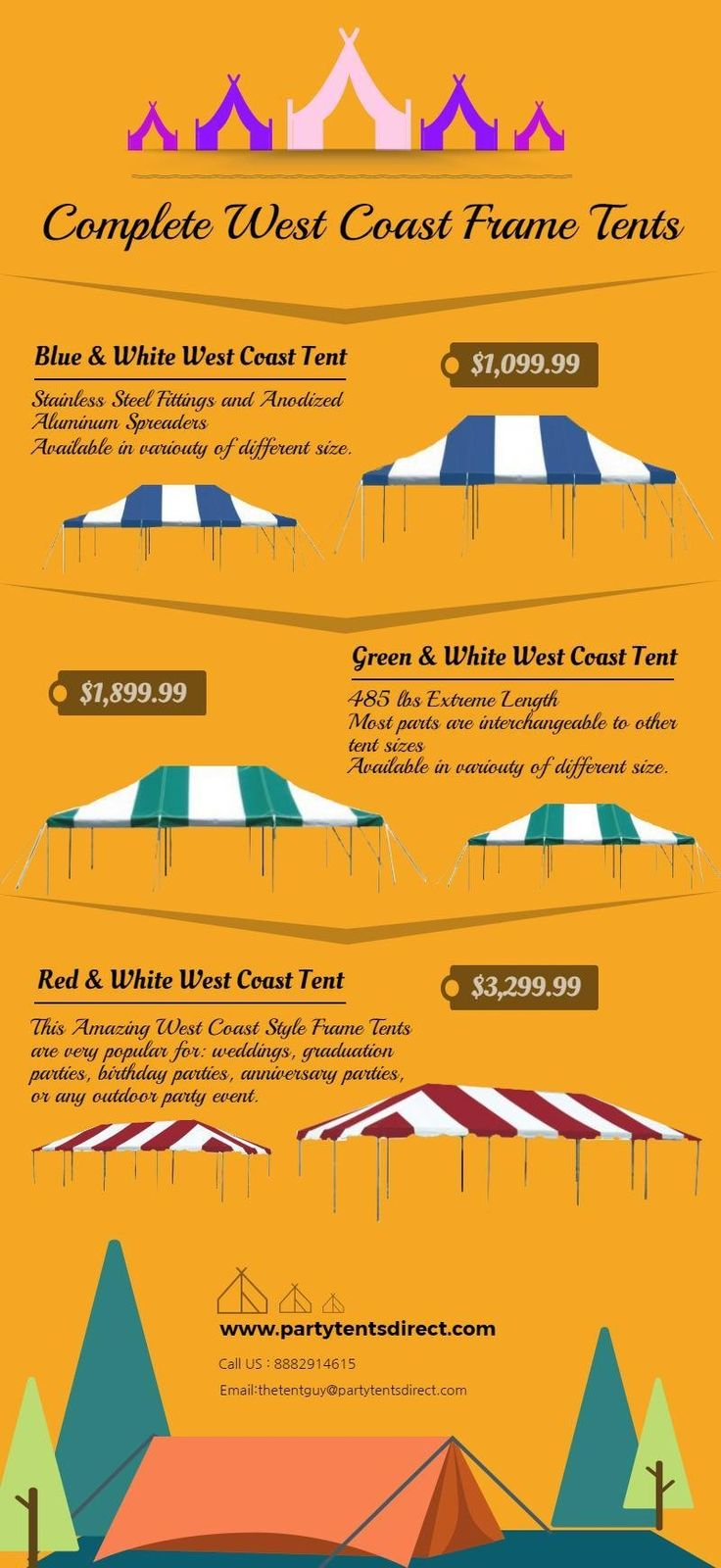 Complete West Coast Frame Tents For Sale #PartyTent #TentForSale #WestCoastTent
