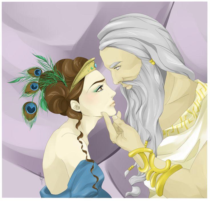 Zeus and Hera by juli3e on deviantART