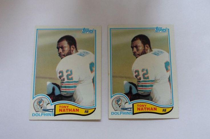 1982 TOPPS  TONY NATHAN # 133 ( 2 CARD LOT ) #MiamiDolphins