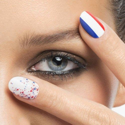 BEAUTYFASHION: Bleu, Blanc, Rouge - Top Coat Effet Graffiti