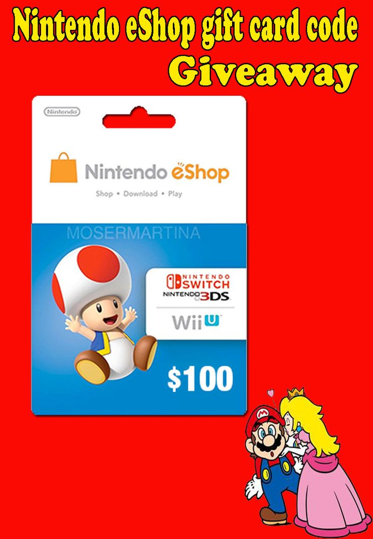Pin on nintendo gift card giveaway
