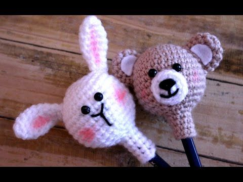كورشيه عروسة القلم  Crochet Amigurumi doll pen - YouTube