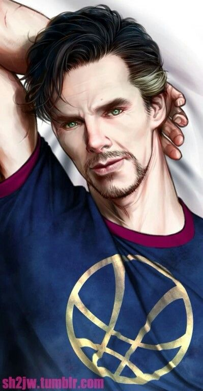 Doctor Strange pinup style. jf
