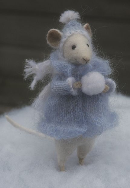 Winter mouse with muff