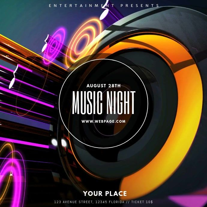 Party Dj Club Video Template Instagram Event Poster Template Club Poster Event Flyer Templates