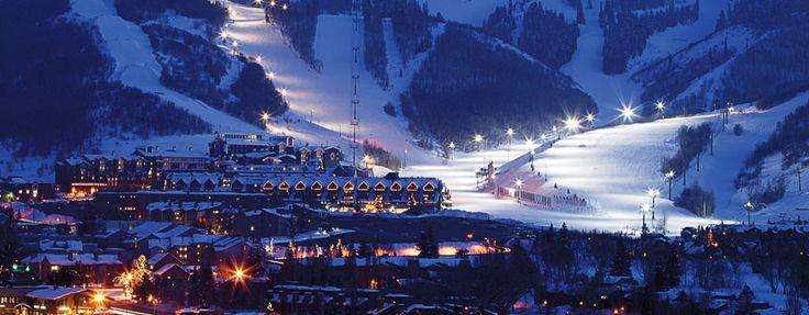 Night skiing at Park City Ski Resort USA #skitravel #amped4ski #snowlovers #skiutah #skiusa #skiholidays