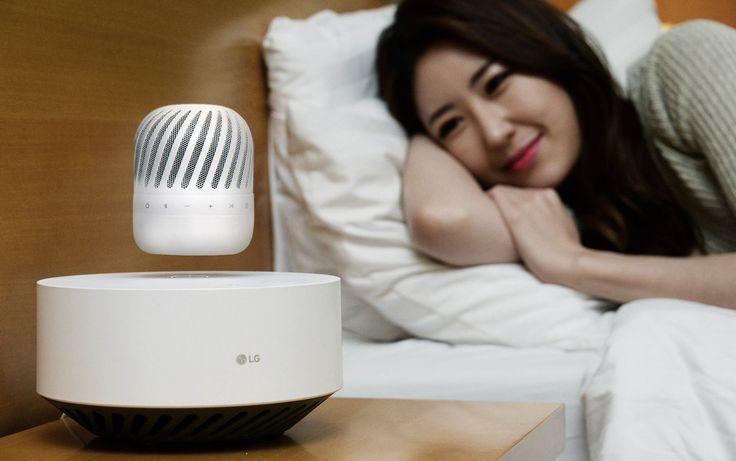 Lewitujące głośniki bezprzewodowe nie są szczególną nowością na rynku. Do tej pory jednak były to drogie gadżety. LG chce, by taki głośnik pojawił się w każdym domu. http://exumag.com/lewitujacy-glosnik-lg-pj9/