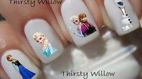 Frozen Movies Nail Art / Nail Art For Kids 2015 - Funny Videos at Videobash