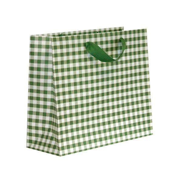 We just love these green Gingham bags, as part of the colourful range of Yellow, Green and Red Gingham bags.