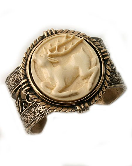 Extasia Jewelry Ivory Cameo Cuff Stunning Hand Carved Ivory Cameo