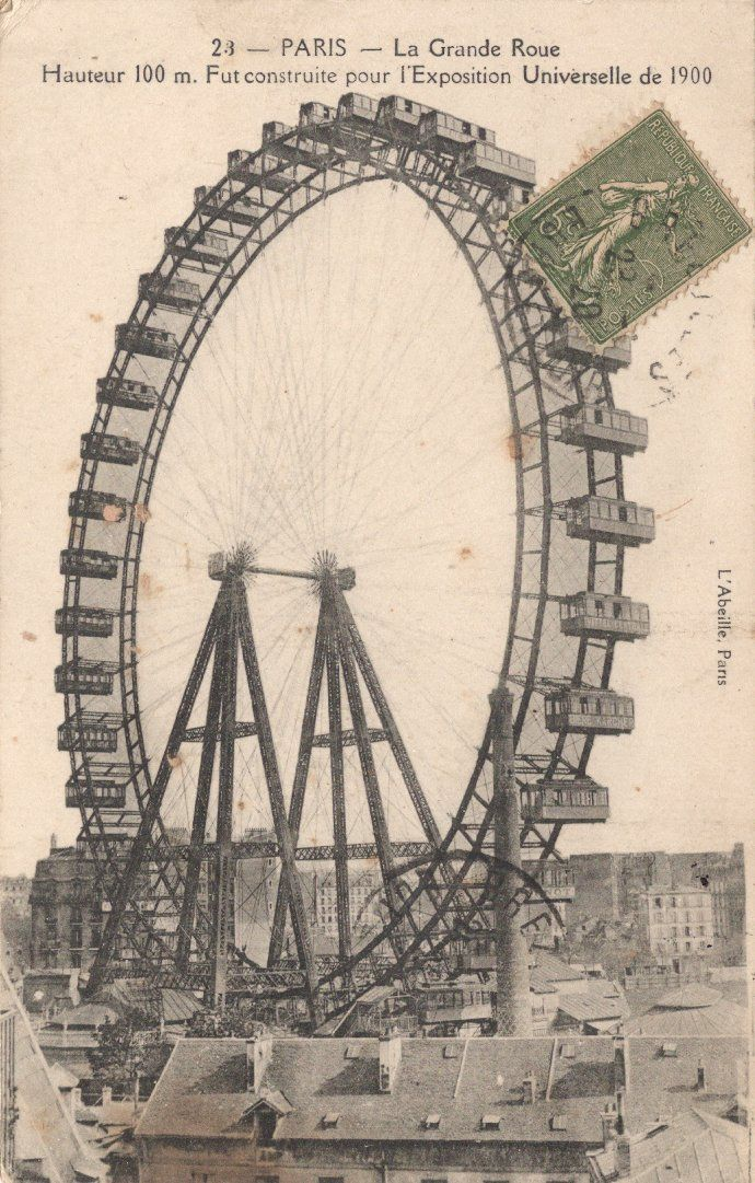 Paris Exposition Universelle 1900.Le Grande Roue