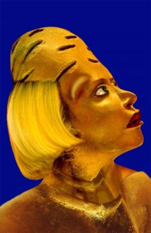 Orlan, the Goddess of Plastic Surgery.Miami Exhibitions, Merge Art, Art Idol, Artists Orlan, Plastic Art, Body Art, Artistikkkbranleta Mythology, Artists Exploration, Plastic Surgery