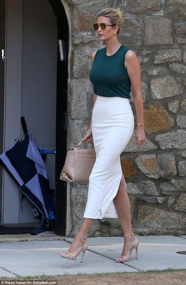 Pin By Thefarmerswife On Trump Trump Fashion Pencil Skirt White