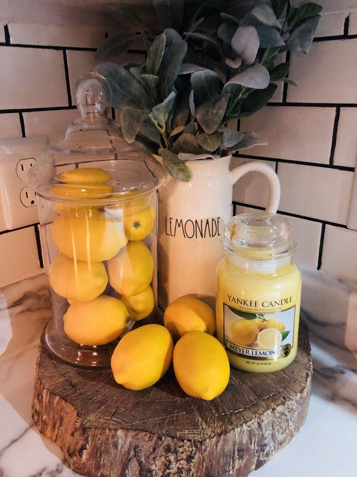 Rae Dunn Lemonade Lemons Kitchen Display Lemon Kitchen Decor Kitchen Display Lemon Kitchen