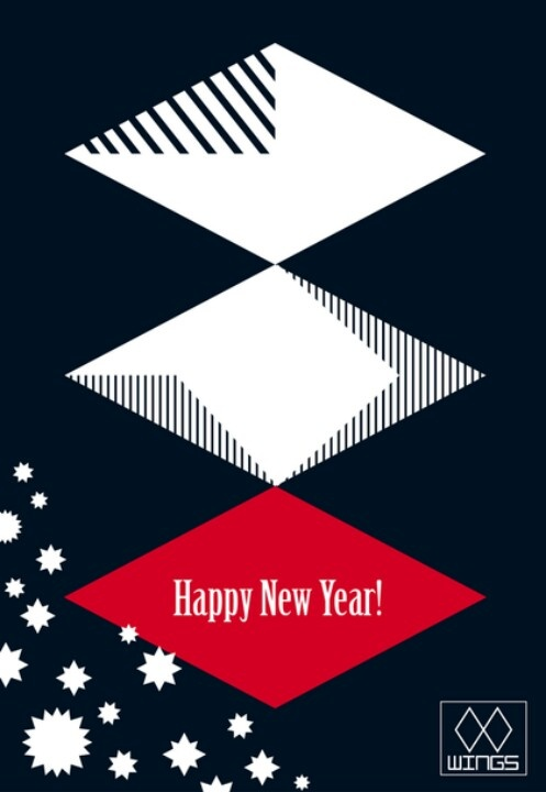 WINGS TEAM CARD 2012 New year's cover design