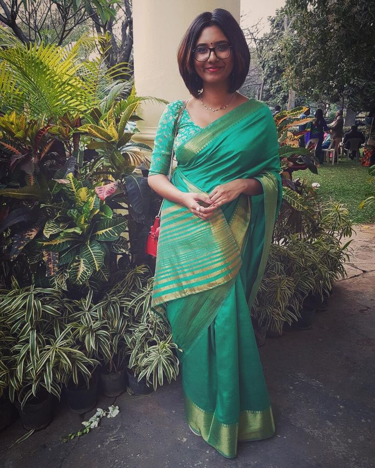 #throwback to last weekend's @ajkuruvila wedding in #bangalore... Love this saree from @nvystudio created by the talented @nivya_b   #afternoonsun #latergram #green #saree #desi #weddings