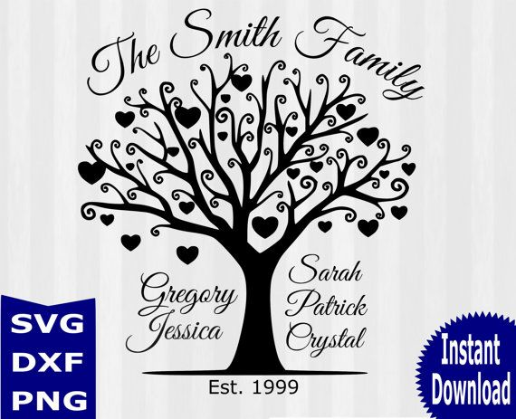 Tree Silhouette SVG, Tree SVG Cutting Templates - Commercial and Personal Use- Family Tree svg, Family tree clipart, tree vector,studio file