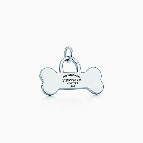 Return to Tiffany™ bone tag charm in sterling silver.