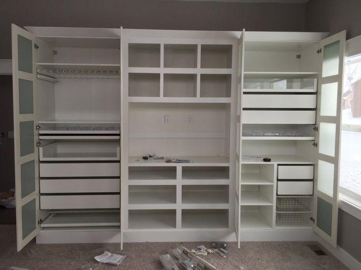 Custom Built-in using Ikea Pax system