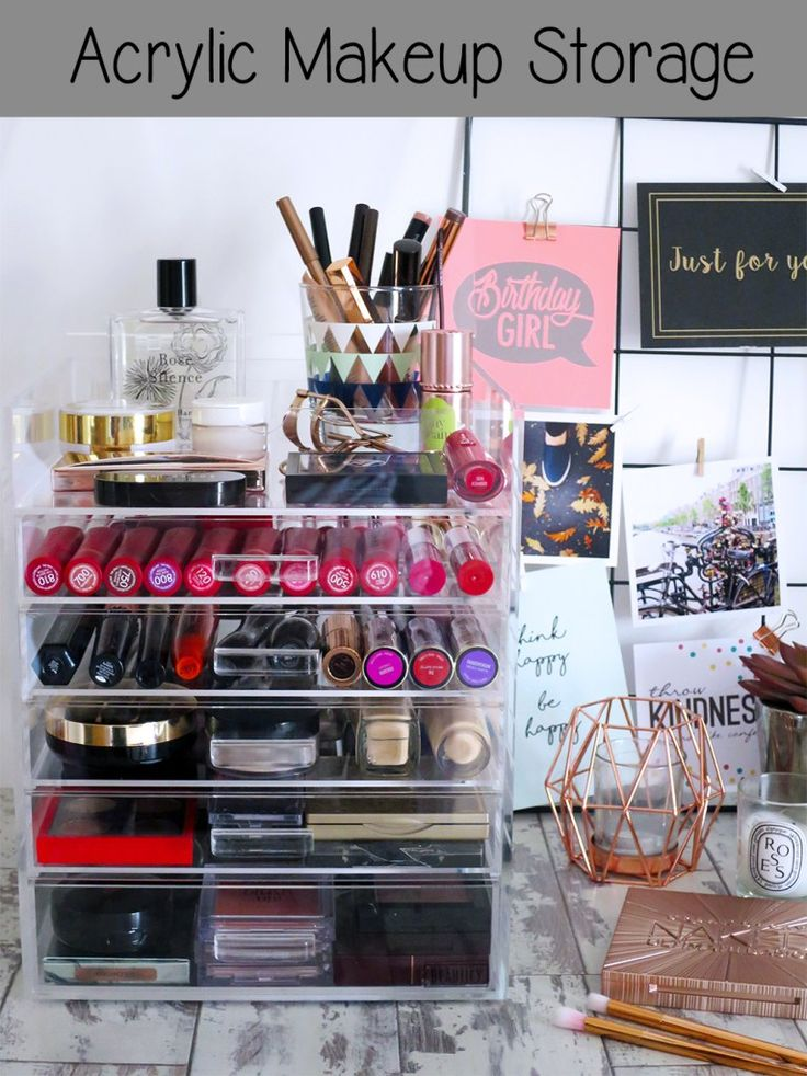 Beautify Acrylic Makeup Storage Drawers