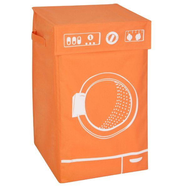 Get ready for laundry day with this washing machine hamper from Honey Can Do. A sturdy frame keeps the hamper upright and makes loading it a breeze. A hook and loop closure keeps the lid securely in place and laundry out of sight. Two durable handles make it easy to carry this hamper to and from the laundry room. This hamper has enough room for two loads of laundry. Folds flat for easy storage.