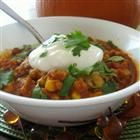 Pumpkin turkey chili. I know it sounds odd....I don't tell anyone about the pumpkin and nobody ever can taste it. I'm looking forward to fall!!!