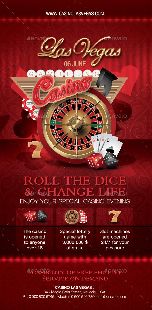 Casino Flyer | Casino Infographics