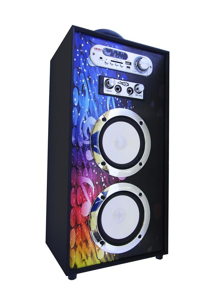 Altavoz Portátil Karaoke Bluetooth Radio FM y Batería Interna modelo V-1171 04 - Altavoz Portátil Karaoke Bluetooth Radio FM y Batería Interna Podrás escuchar toda tu música sin necesidad de cablesademás gracias a la tecnología Bluetooth, reproduce la música de tu móvil o tablet directamente en el altavoz sin cables de por medio. Radio FM para que no te pierdas tus programa... - http://www.vamav.es/producto/altavoz-portatil-karaoke-bluetooth-radio-fm-y-bateria-int