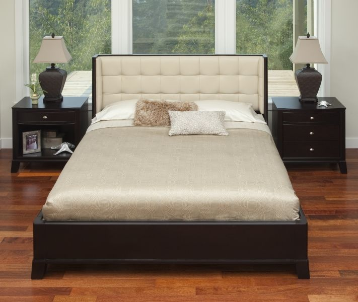 Downtown Leather Executive Bed King Upperwoods Furniture Company Edmonton Alberta