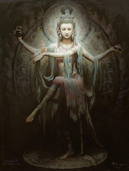 Delineating Art: Quan Yin posing as Lord Shiva
